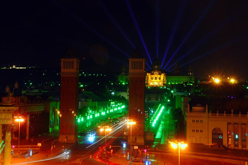 Espectáculo de luces de barcelona barcelona en un fin de semana - DSC09098 - Barcelona en un fin de semana